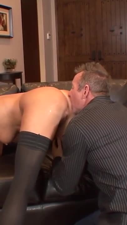 Blonde milf with big tits rides big dick ass show